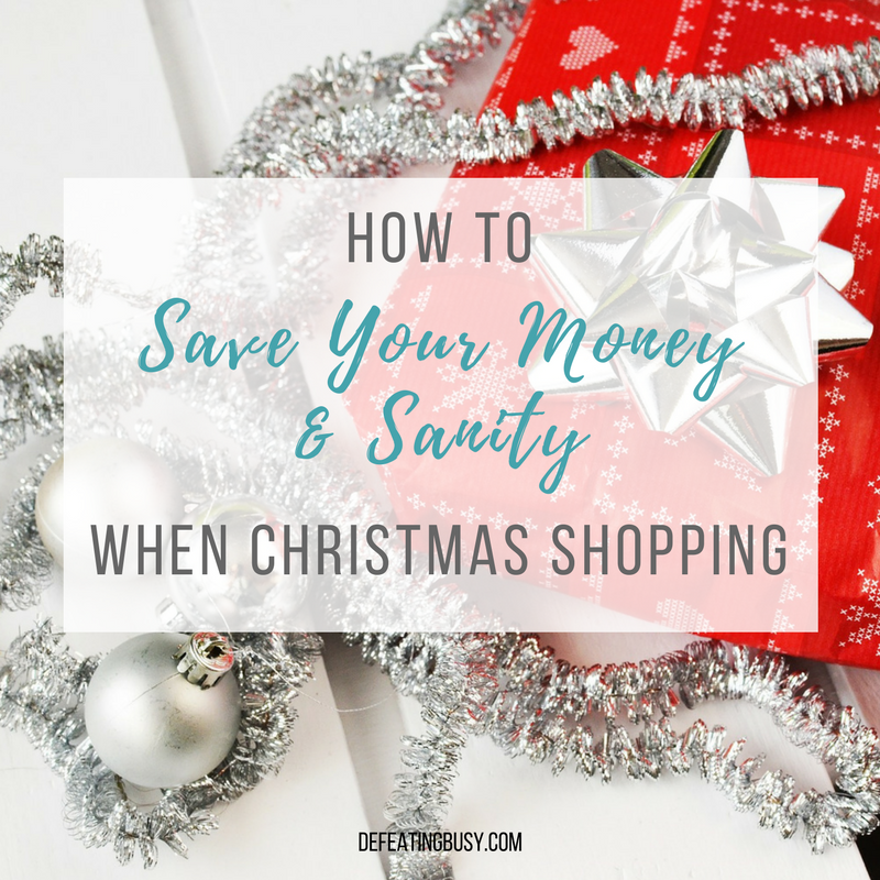 How to Save Your Money & Sanity When Christmas Shopping