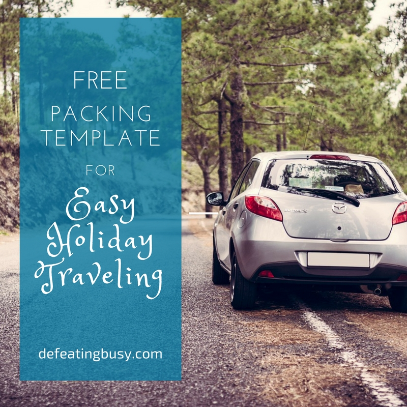 Free Packing Template for Easy Holiday Traveling