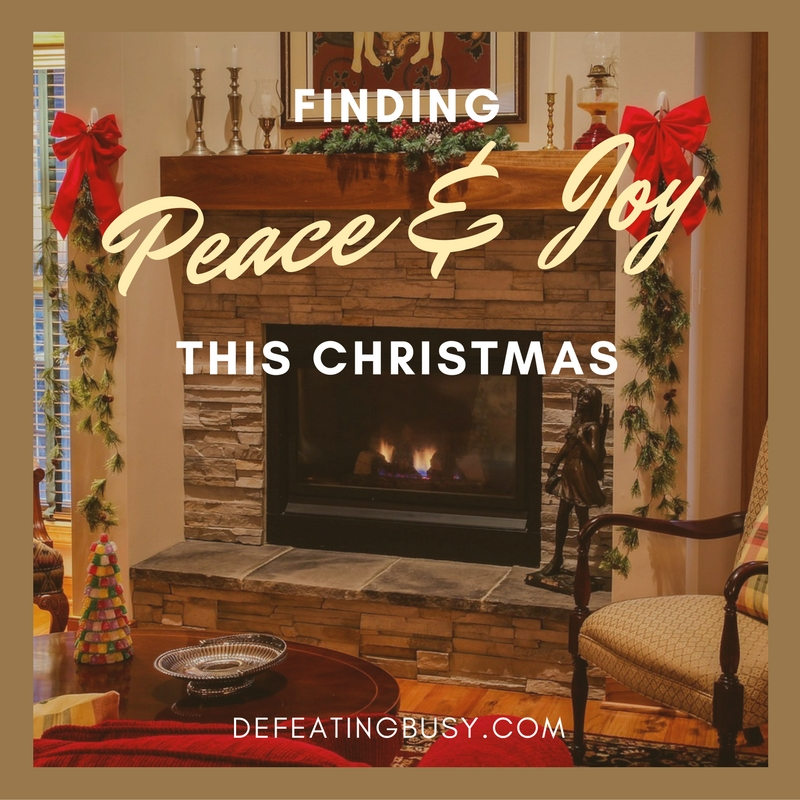 Finding Peace and Joy This Christmas