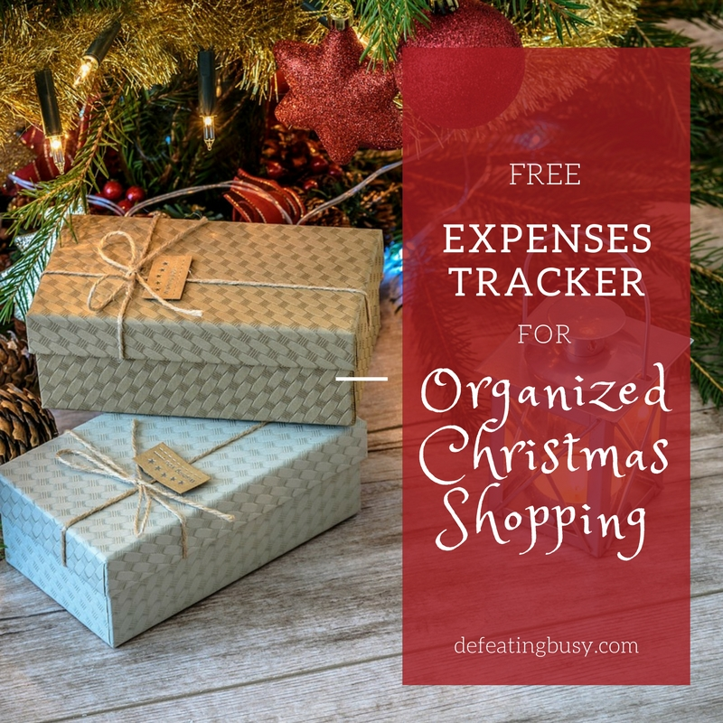 Free Expenses Tracker for Organized Christmas Shopping