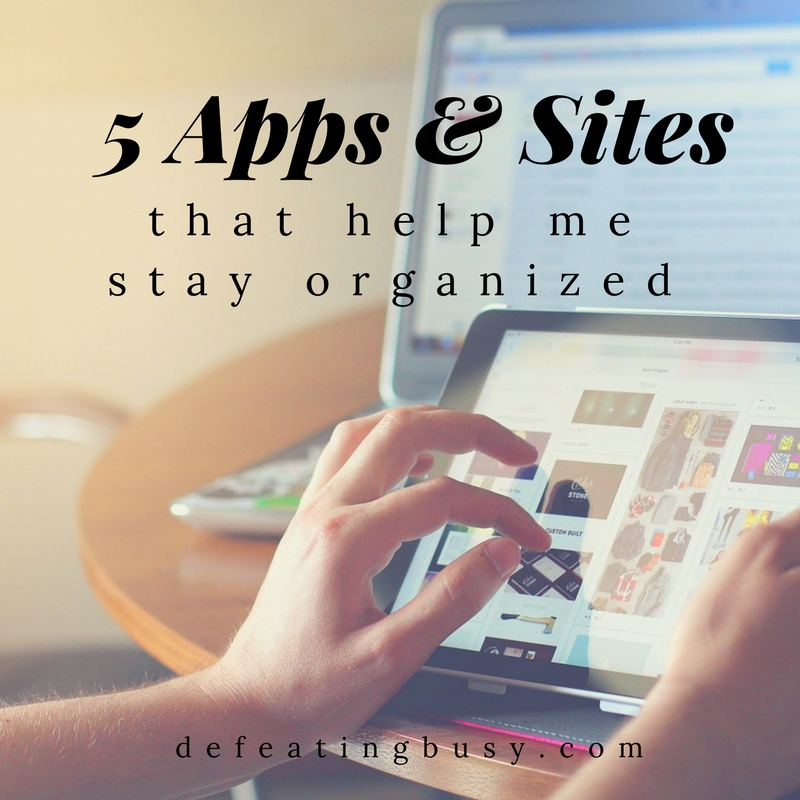 5 Apps & Sites That Help Me Stay Organized