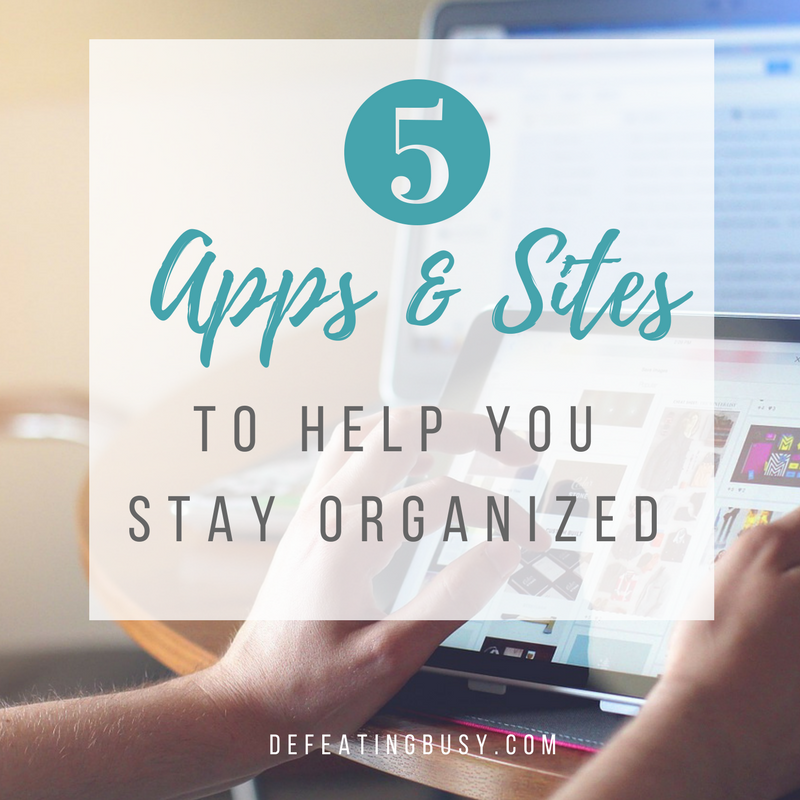 5 Apps & Sites to Help You Stay Organized