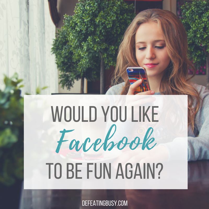 Would You Like Facebook to Be Fun Again?