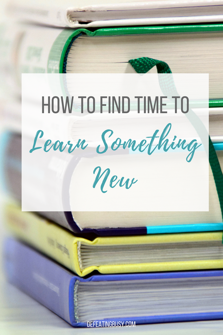find time to learn
