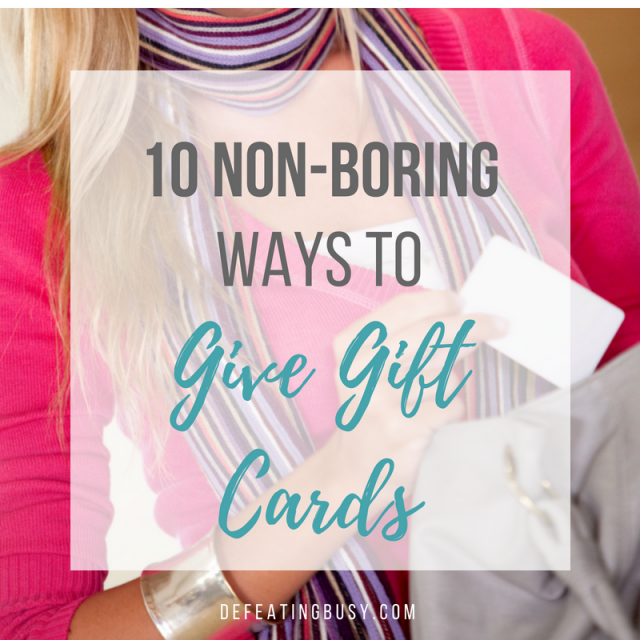 10 Non-Boring Ways to Give Gift Cards