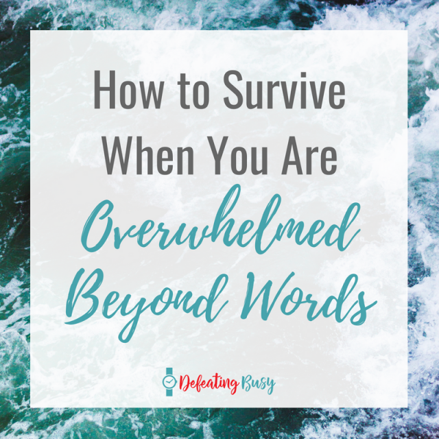 No matter how hard we try to avoid it, there will be times when we will be incredibly overwhelmed with life. Here are three tips I really use to cope with the anxiety. #defeatingbusy
