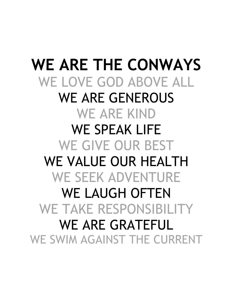 conway family values